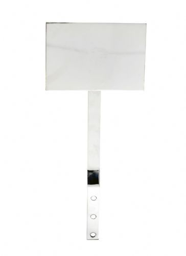 Extinguisher sign mounting plate (chrome)